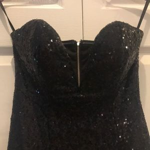 Nasty Gal Dresses - Nasty Gal black sequin dress size XXS